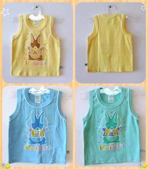 Baju Anak Kembar Laki Perempuan jual baju atasan tanpa lengan anak bayi laki perempuan rabbit 24 bulan ida baby