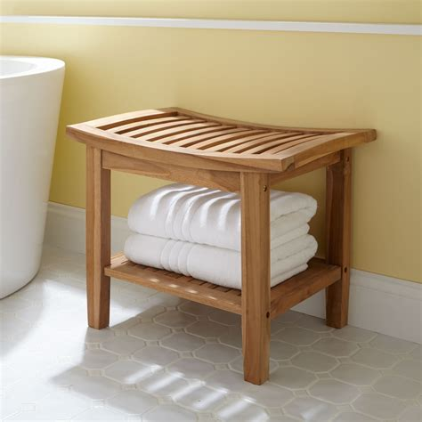 bathing bench teak bathtub bench bathroom decoration plan