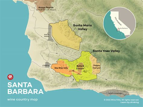 santa barbara map an introduction to santa barbara wine country wine folly