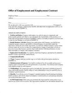 work agreement contract template 5 work contract templatereport template document report