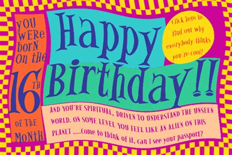 16 Year Boy Birthday Card Numerology Reading Free Birthday Card 16