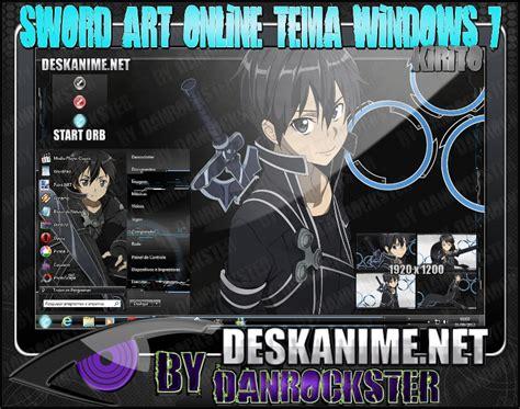download themes windows 7 kirito kirito theme windows 7 by danrockster on deviantart