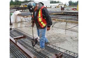 Rebar Worker by Rebar Tying Tools Help Prevent Worker Injury On Concrete Construction Projects