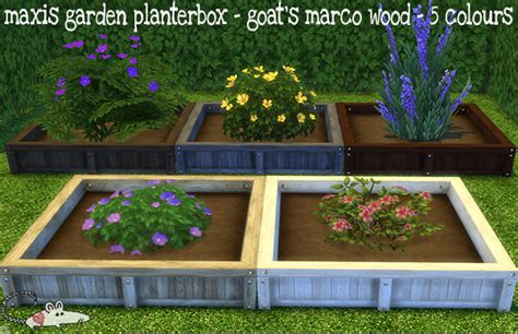 Sims 3 Planter Box by Sims 4 Maxis Garden Planter Box In Goat S Marco