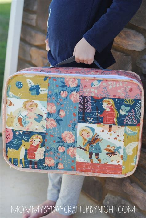 Patchwork Gifts Free Patterns - to grandmother s house suitcase tutorial favequilts