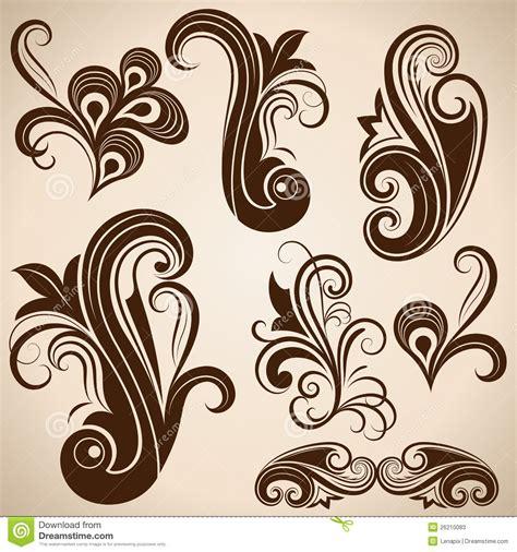 antique design vintage floral design elements stock photos image 26210083