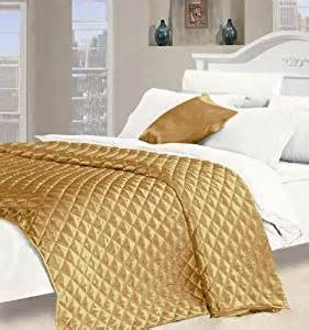 Gold Quilted Coverlet Desire Faux Silk King Size Quilted Bedspread In Gold