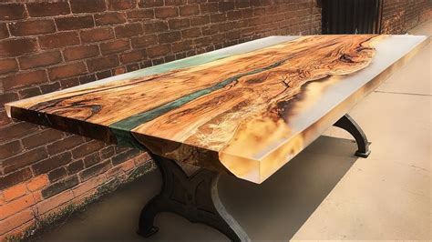 amazing epoxy resin  wooden river table awesome
