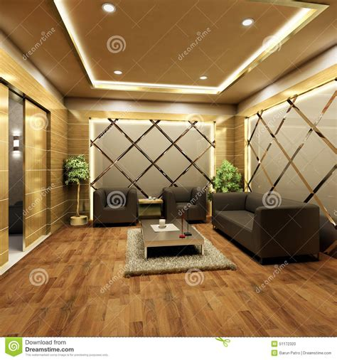 warm design lobby interior design stock illustration image 51172320