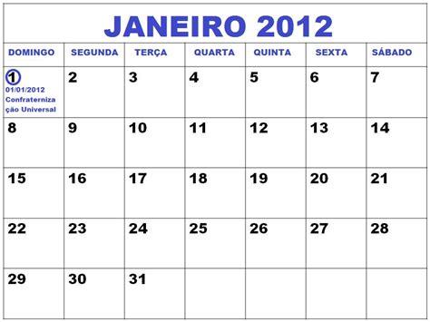 Calendario Janeiro Calend 193 Janeiro 2012 Feriados Janeiro 2012 E Datas