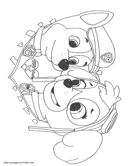 paw patrol blank coloring pages to print free printable paw patrol coloring pages