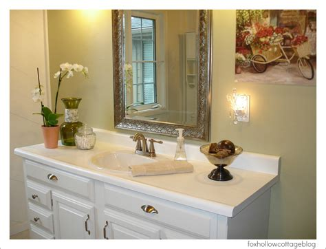 Bathroom Makeover by A Budget Bathroom Makeover Fox Hollow Cottage