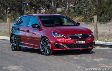 peugeot 308 gti blue 2016 peugeot 308 gti 270 review video performancedrive