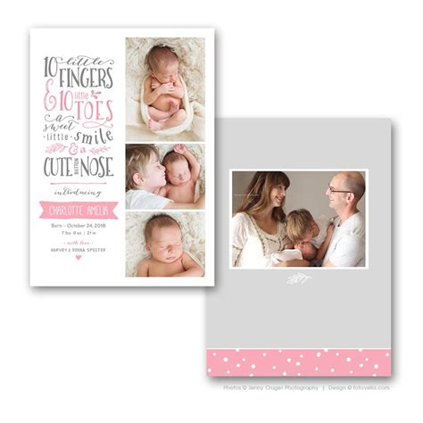 birth announcements card templates birth announcement templates 10 handpicked ideas to