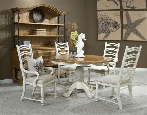 two tone dining room sets coronado two tone round table dining room set panama