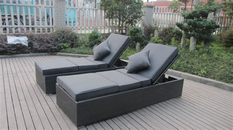 Outdoor Sun Lounge Chairs by Contemporary Rattan Sun Lounger Outdoor Lounge