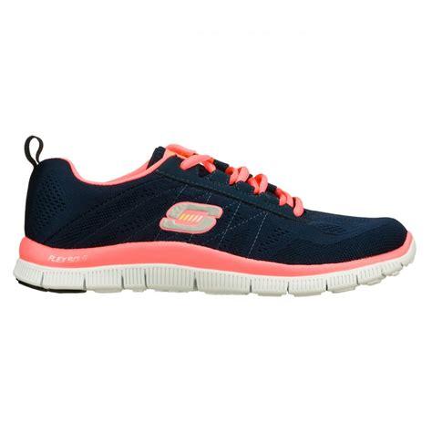 Sepatu Skechers Flex Sole skechers skechers flex appeal sweet spot navy pink n84 11729 nvhp womens trainers