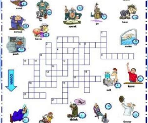 Diskon Puzzle Edukasi Match It Verb past simple irregular verbs picture crossword