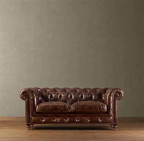 Chesterfield Restoration Hardware by 76 Quot Kensington Leather Sofa
