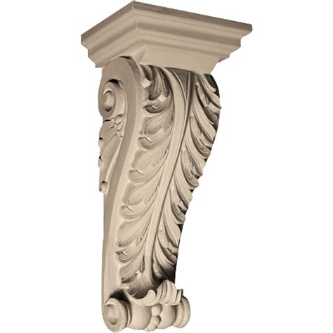Resin Corbels pearlworks cb 130 acanthus with resin corbel architecturaldepot