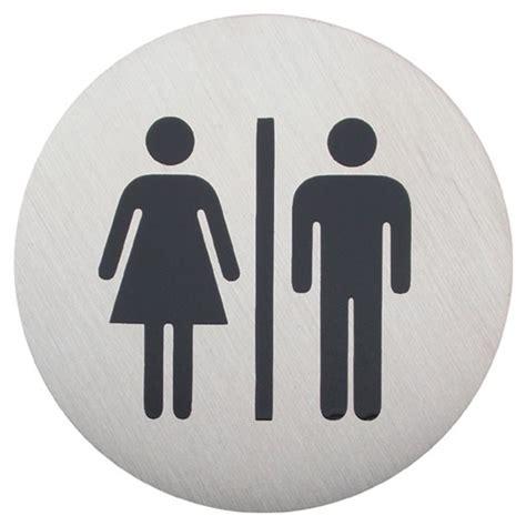 male female bathroom signs urban steel male female bathroom sign