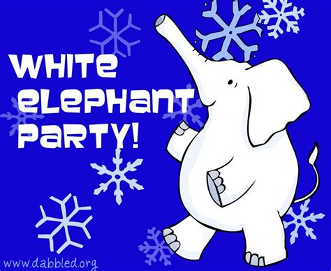 dabbled tips for throwing a white elephant holiday party