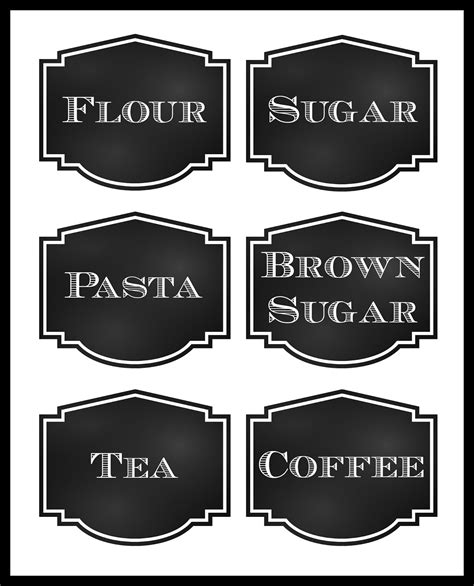 Pantry Labels Template by Reorganized Simplicity Free Printable Chalkboard Style