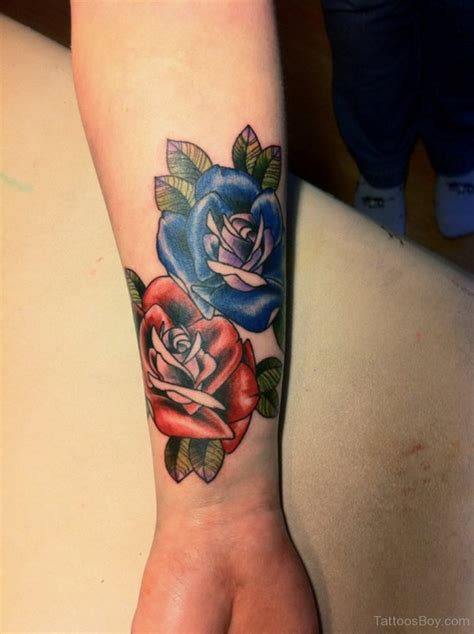 red white and blue rose tattoo designs pictures a category wise