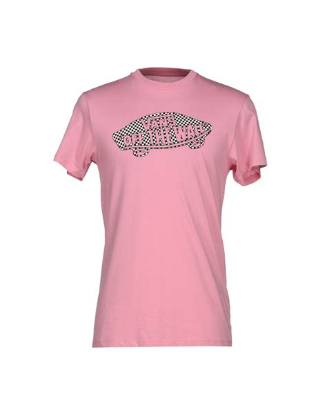 T Shirt Pink Vans lyst vans t shirt in pink for