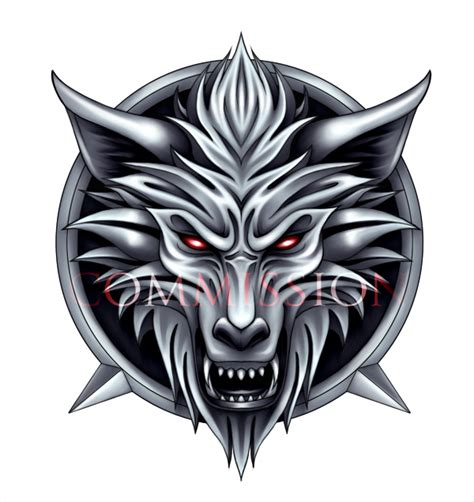 commission wolf s head logo by akiahara on deviantart
