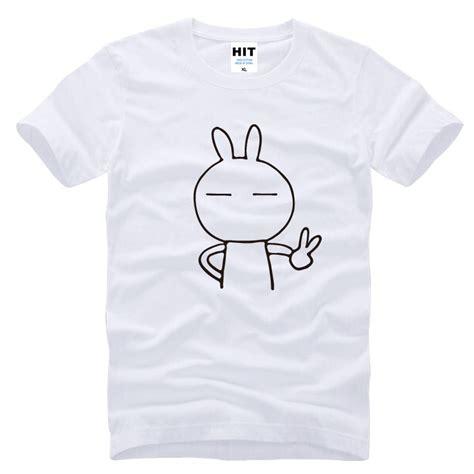 sleeve rabbit print t shirt mens rabbit keith yes printed t shirt tshirt