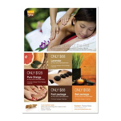 salon flyer templates free spa flyer template spa ideas flyer