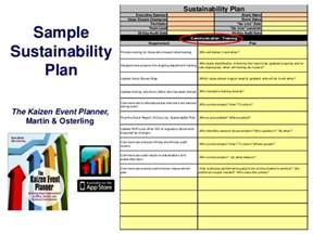 Sustainability Plan Template sustainability plan sle sustainability plan