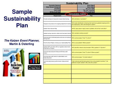sustainability plan sle sustainability plan