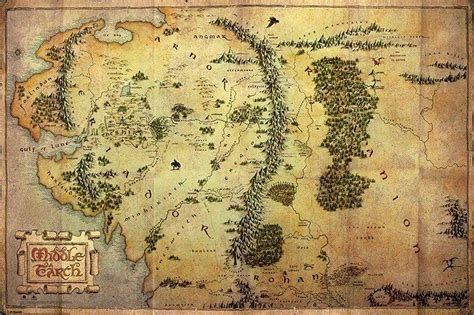 map middle earth middle earth map poster images