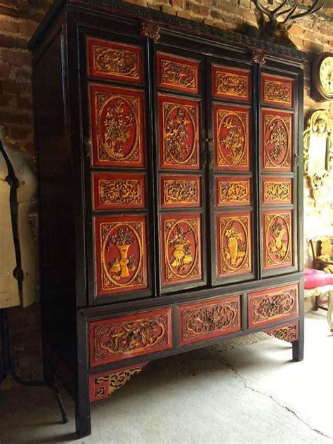 oriental armoire antique chinoiserie wardrobe armoire lacquered oriental