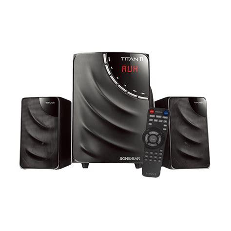Speker Sonic Gear Titan5 Btmi Bluetooth jual sonicgear titan 11 btmi speaker 2 1 bluetooth remote