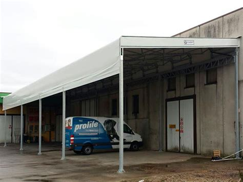 coperture tettoie in pvc tettoie pvc industriali coperture laterali autoportanti
