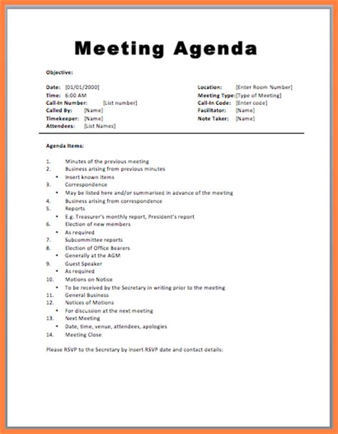 free agenda templates team meeting sd1 style1 jpg sales