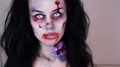 zombie girl makeup tutorial zombie makeup tutorial how to do easy zombie makeup