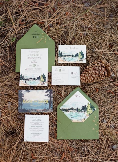 Wedding Invitations Lake Theme by Tahoe Wedding Invitation Wedding Ideas 100