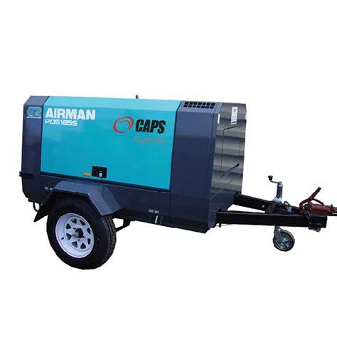 185cfm airman trailer mounted diesel compressor caps shop