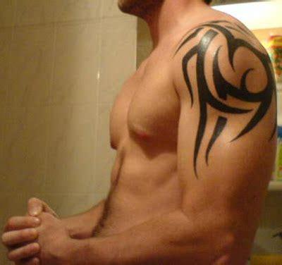 urban tribal tattoos shoulder design