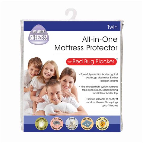 best mattress protector for bed bugs original bed bug blocker zippered mattress protector ebay
