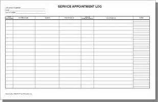 appointment tracker template template
