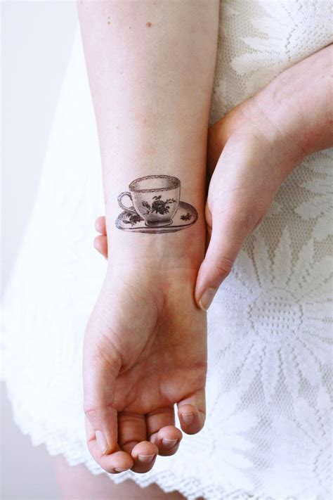 etsy temporary tattoos small teacup temporary tea temporary tea