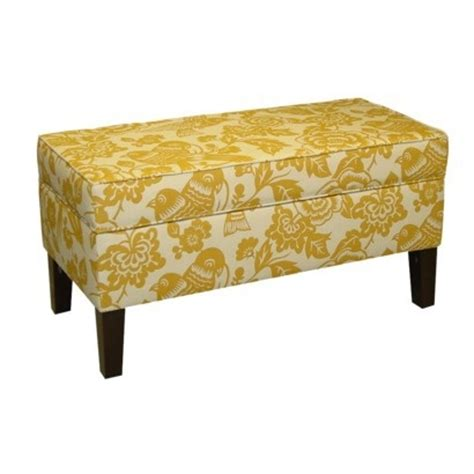 yellow storage bench target furniture living room furniture ottomans benches