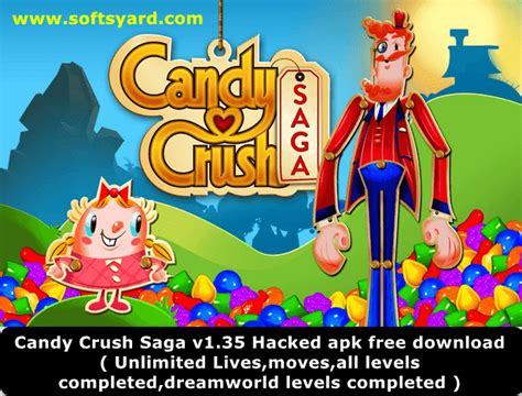 hack crush saga apk crush v1 35 unlimited lives and hacked apk for free softsyard get everything for