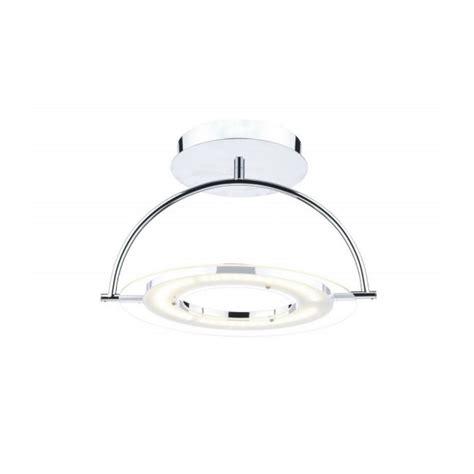 atom led semi flush ceiling light in chrome ato1750