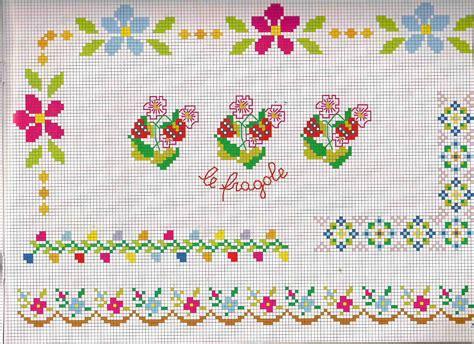 fiori da ricamare bordi da ricamare con fiori e fiorellini magiedifilo it
